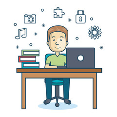 person working office icon