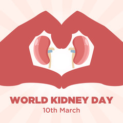 Kidney health awareness poster template, World Kidney day campaign.