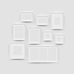 Picture frame gallery set for photographs