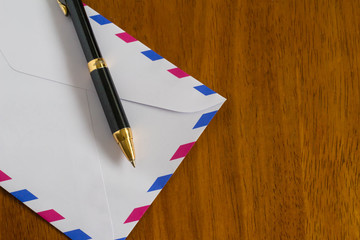 Air mail and pen