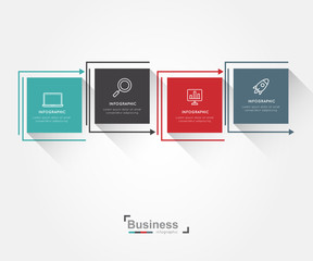 Modern infographic for business concept.