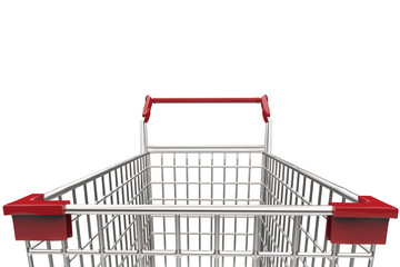 empty cart on white background