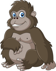 Cute baby gorilla cartoon