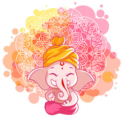 Greeting card for Ganesh birthday