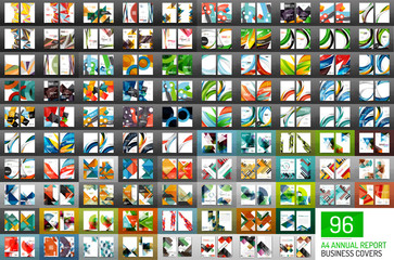 Mega collection of 96 vector annual report covers