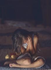 Devastated weeping little girl