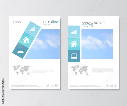 White annual report cover brochure template presentation template white annual report cover brochure template presentation template with world map and business icons gumiabroncs Image collections