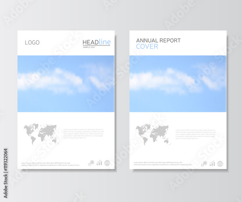 White annual report cover brochure template presentation template white annual report cover brochure template presentation template with world map image leaflet gumiabroncs Image collections