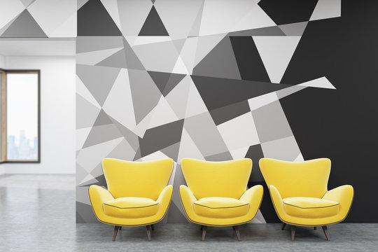 Modern office waiting room