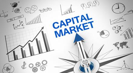 Capital market Wall mural