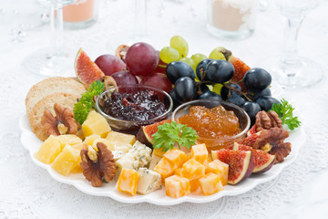 cheese and fruit plate to the holiday