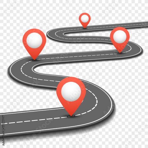 Car road, street, highway business roadmap infographics ...