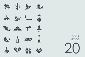 Set of Mexico icons