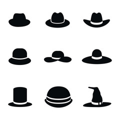 Hat vector icons.
