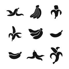 Banana vector icons