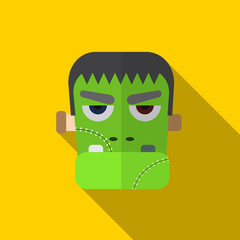 Halloween monster flat icon illustration