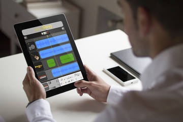 tablet pc with music creation app