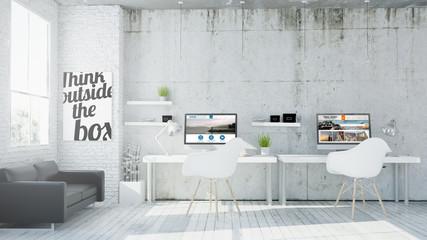 Obraz coworking web design studio - fototapety do salonu