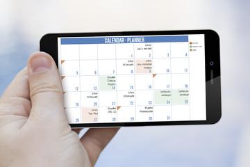 calendar planner cell phone