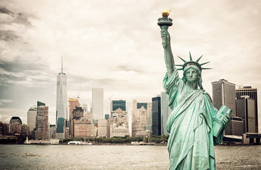 Canvas Prints New York City New York City and Liberty Statue