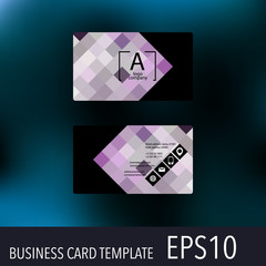 Horizontal business card template with company logo.