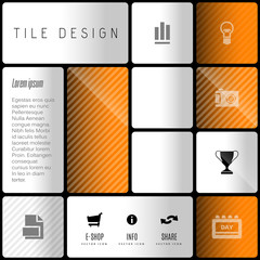 Business tile design. Vector design elements for flyers, templat