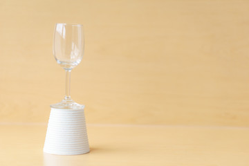 Wine glass decoration