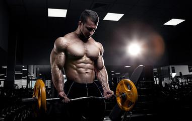 Muscular athletic bodybuilder Wall mural