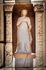 Moral virtue statue of Arete (Apeth), Celsus Library in Ephesus