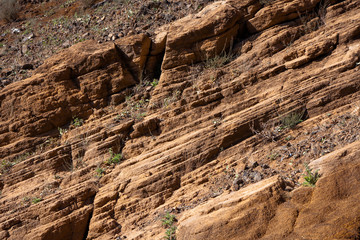 Diagonal mineral layers background