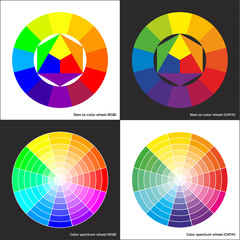 Vector color wheel and Itten 12-color circle