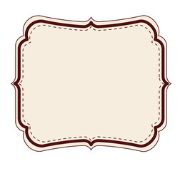 elegant frame decoration isolated vector illustration design