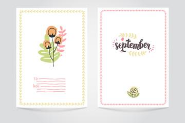 Autumn Vector Card