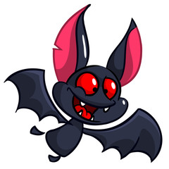 Cartoon bat. Halloween vector cute bat icon. Halloween element
