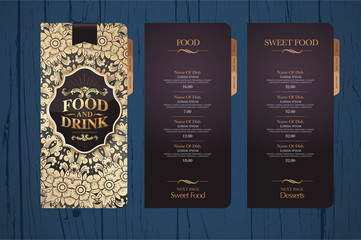 Design menu for restaurants.
