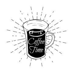 Coffee Time - Doodle Elements Poster. Vector Illustration