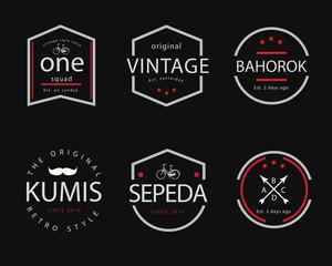vintage badge illustration design
