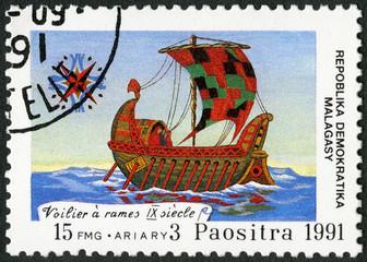 MALAGASY REPUBLIC - 1991: 500th anniv. of discovery of America
