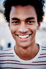 black man with bright smile