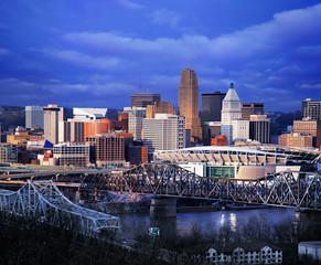Cincinnati In Dramatic Light