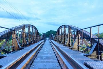 River Kwai bridge pier at Kanchanaburi Thailand