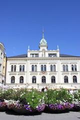 Das Rathaus in der berühmten Stadt Uppsala in Schweden