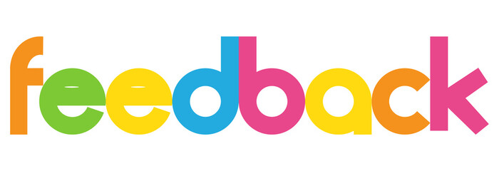 feedback Colourful Vector Letters Banner