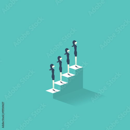 Career Growth Vector Illustration Concept With Businesswomen