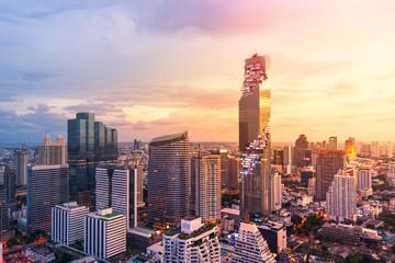 Bangkok view Mahanakhon is the new highest building in Bangkok. Rising building