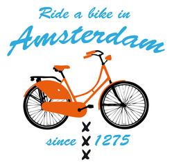 Ride a bike in Amsterdam
