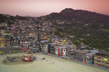 India, West Bengal, Kalimpong, City center, Sports ground and city center
