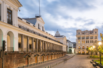Fond de hotte en verre imprimé Vienne Plaza Grande in old town Quito, Ecuador