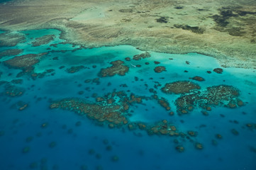Australia, Queensland, North Coast, Cairns Area, The Great Barrier Reef, Aerial View of Green Island