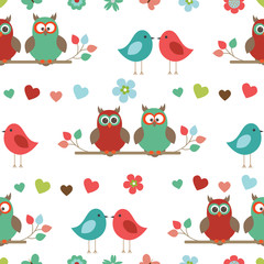 Vector seamless pattern on the theme of nature.